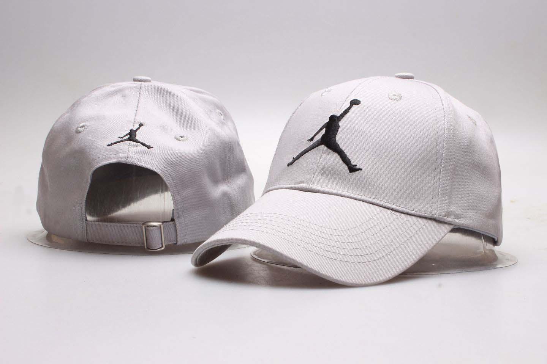 Air Jordan White Fashion Peaked Adjustable Hat YP