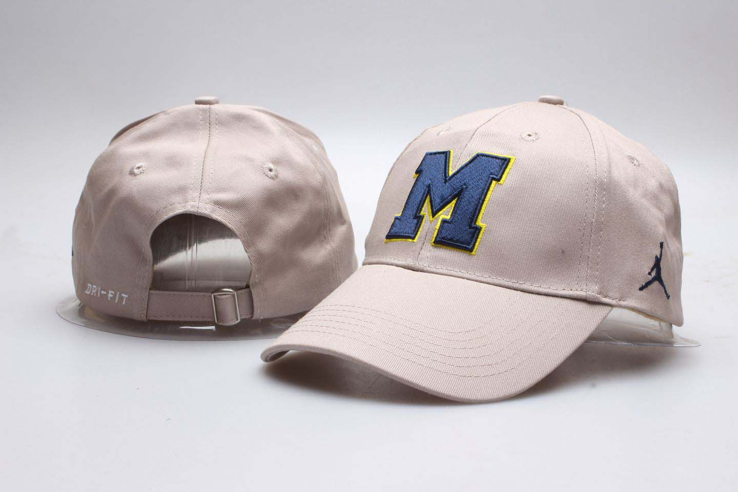 Michigan Wolverines Khaki Jordan Peaked Adjustable Hat YP