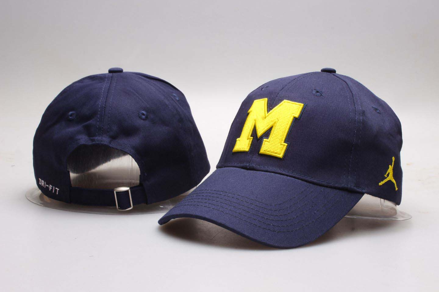 Michigan Wolverines Navy Jordan Peaked Adjustable Hat YP