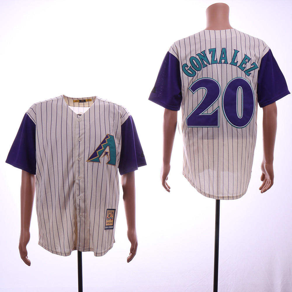 Diamondbacks 20 Luis Gonzalez Cream Cooperstown Collection Jersey