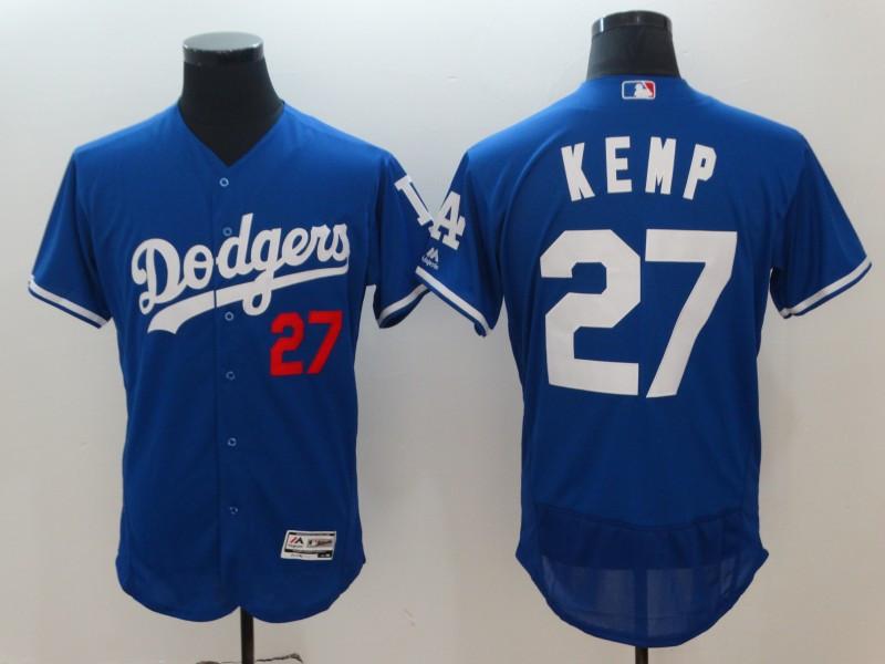 Dodgers 27 Matt Kemp Royal Flexbase Jersey