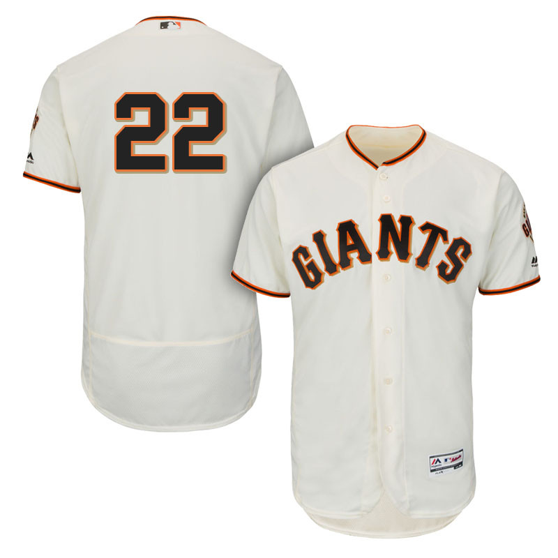 Giants 22 Andrew McCutchen Cream Flexbase Jersey