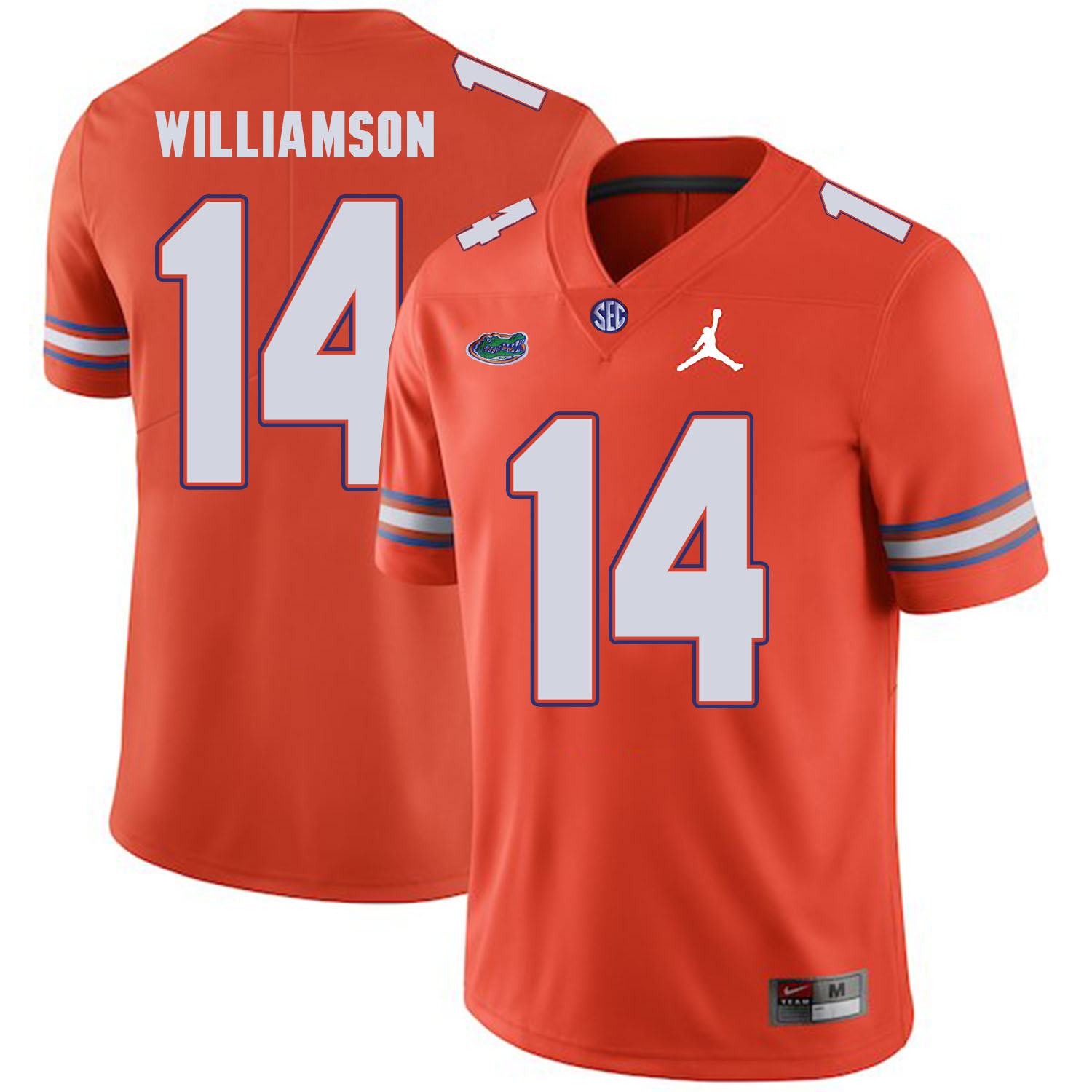 Florida Gators 14 Chris Williamson Orange College Football Jersey