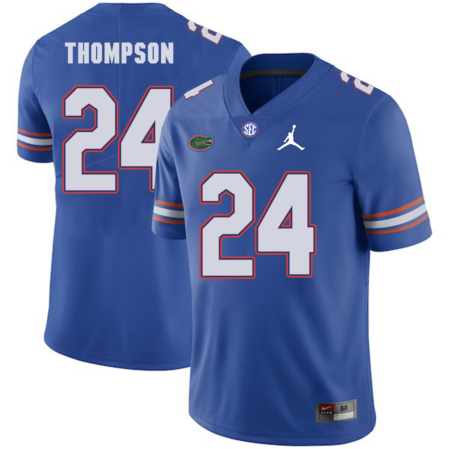 Florida Gators 24 Mark Thompson Blue College Football Jersey
