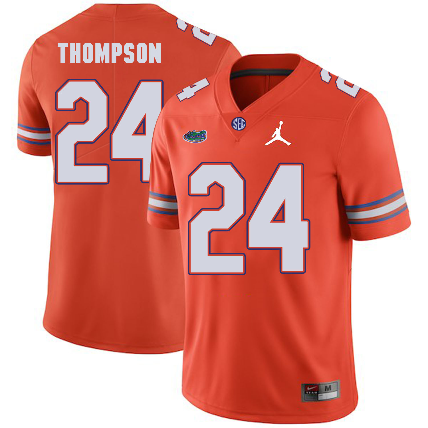Florida Gators 24 Mark Thompson Orange College Football Jersey