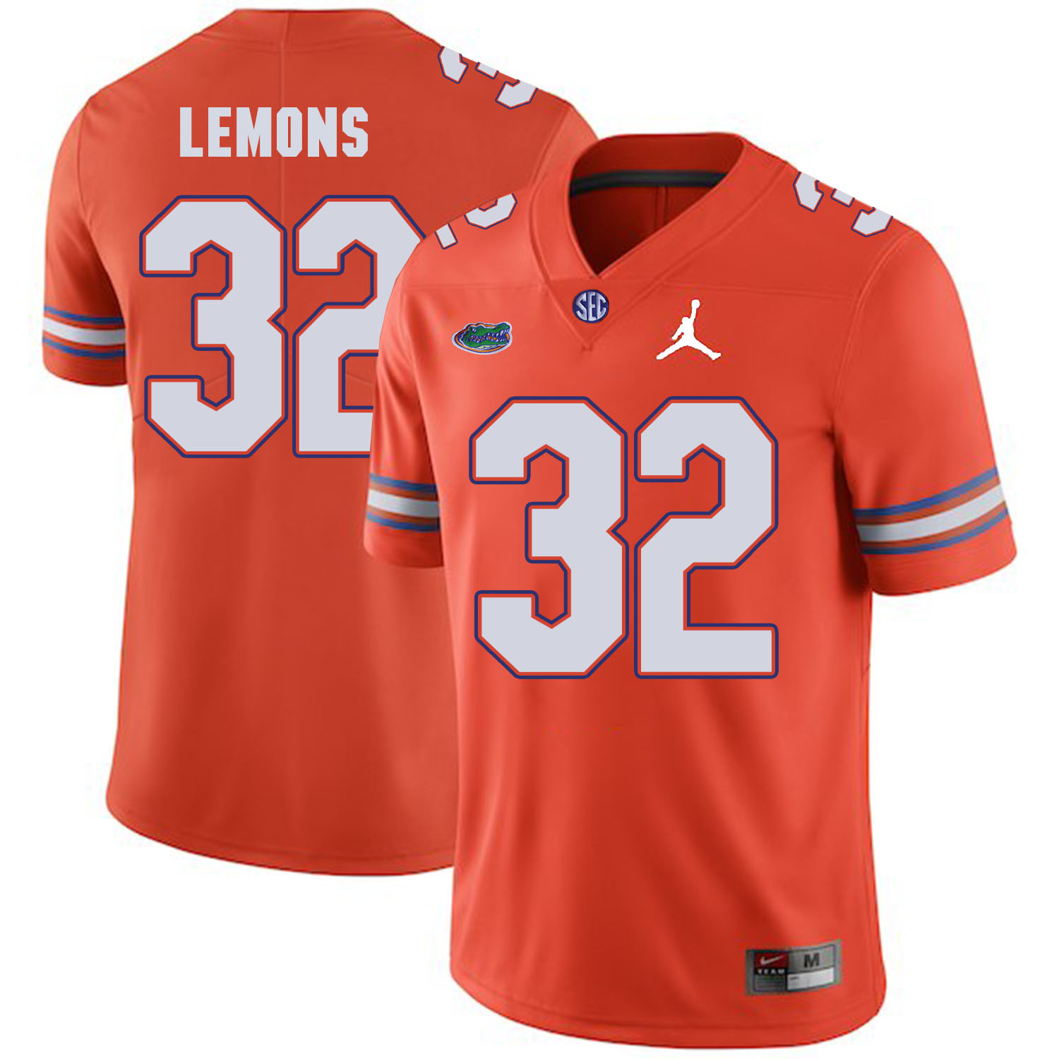 Florida Gators 32 Adarius Lemons Orange College Football Jersey