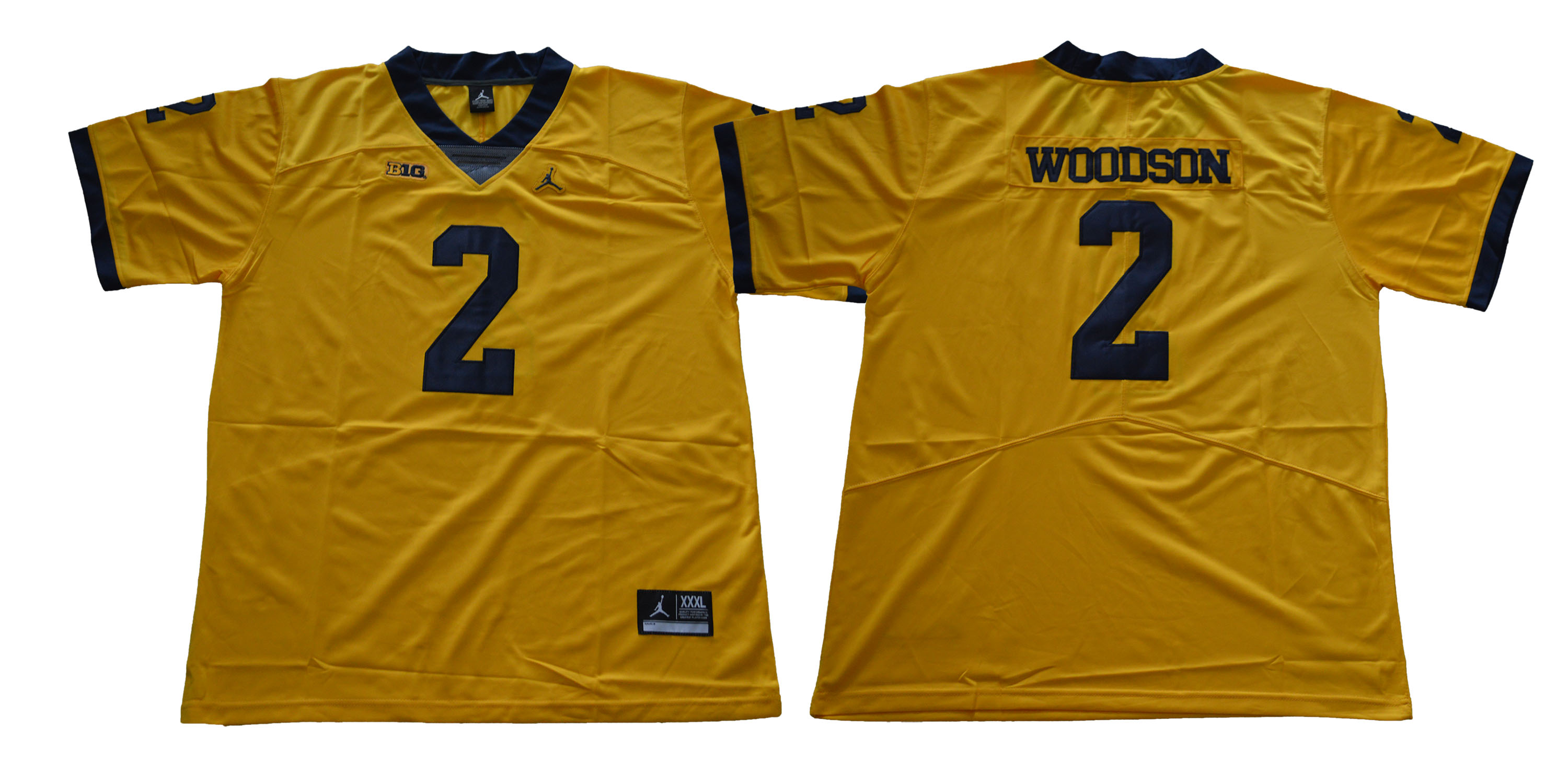 Michigan Wolverines 2 Charles Woodson Gold College Football Jersey