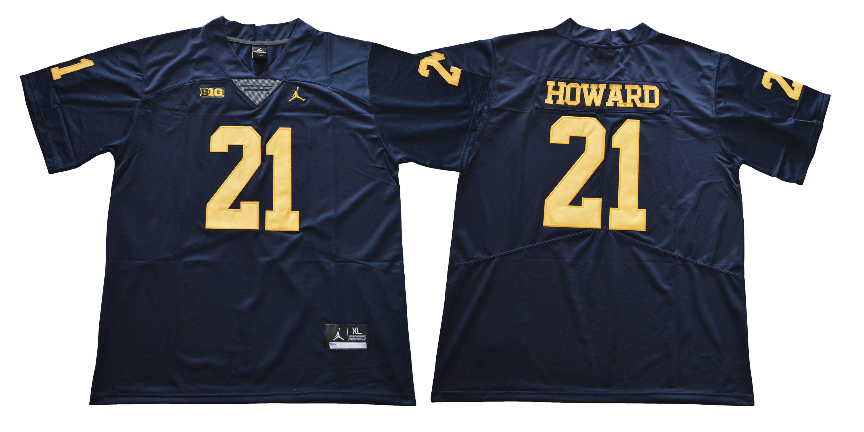 Michigan Wolverines 21 Desmond Howard Navy College Football Jersey