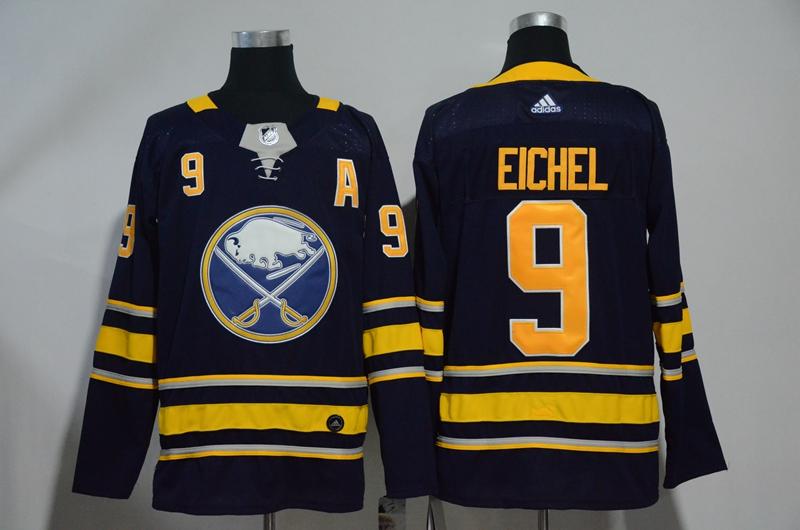 Sabres 9 Jack Eichel Navy Adidas Jersey