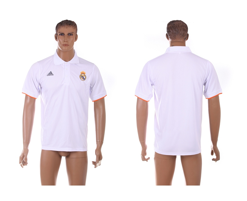 Real Madrid White Soccer Polo Shirt