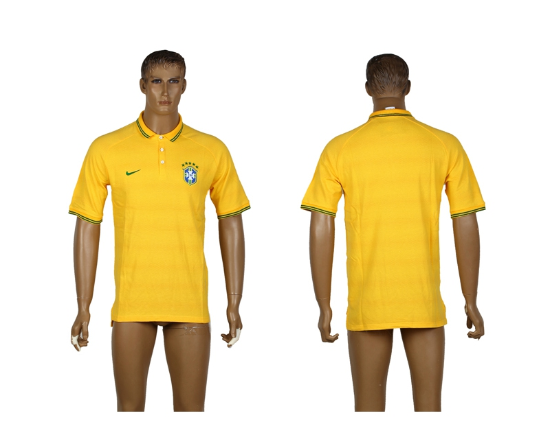 Spain Yellow Soccer Polo Shirt