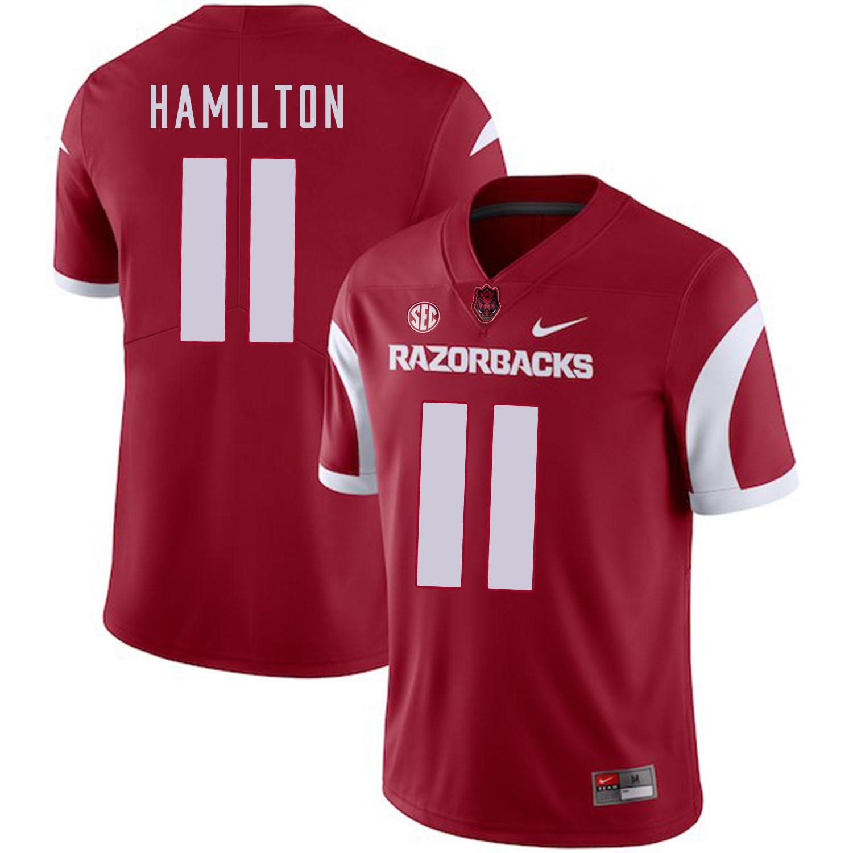 Arkansas Razorbacks 11 Cobi Hamilton Red College Football Jersey