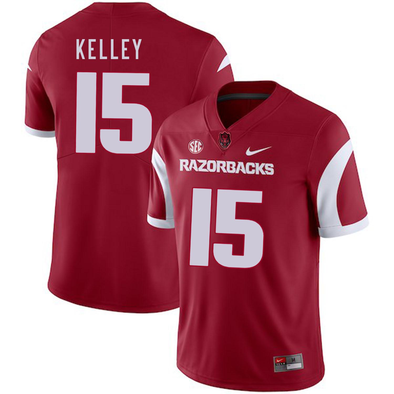 Arkansas Razorbacks 15 Cole Kelley Red College Football Jersey