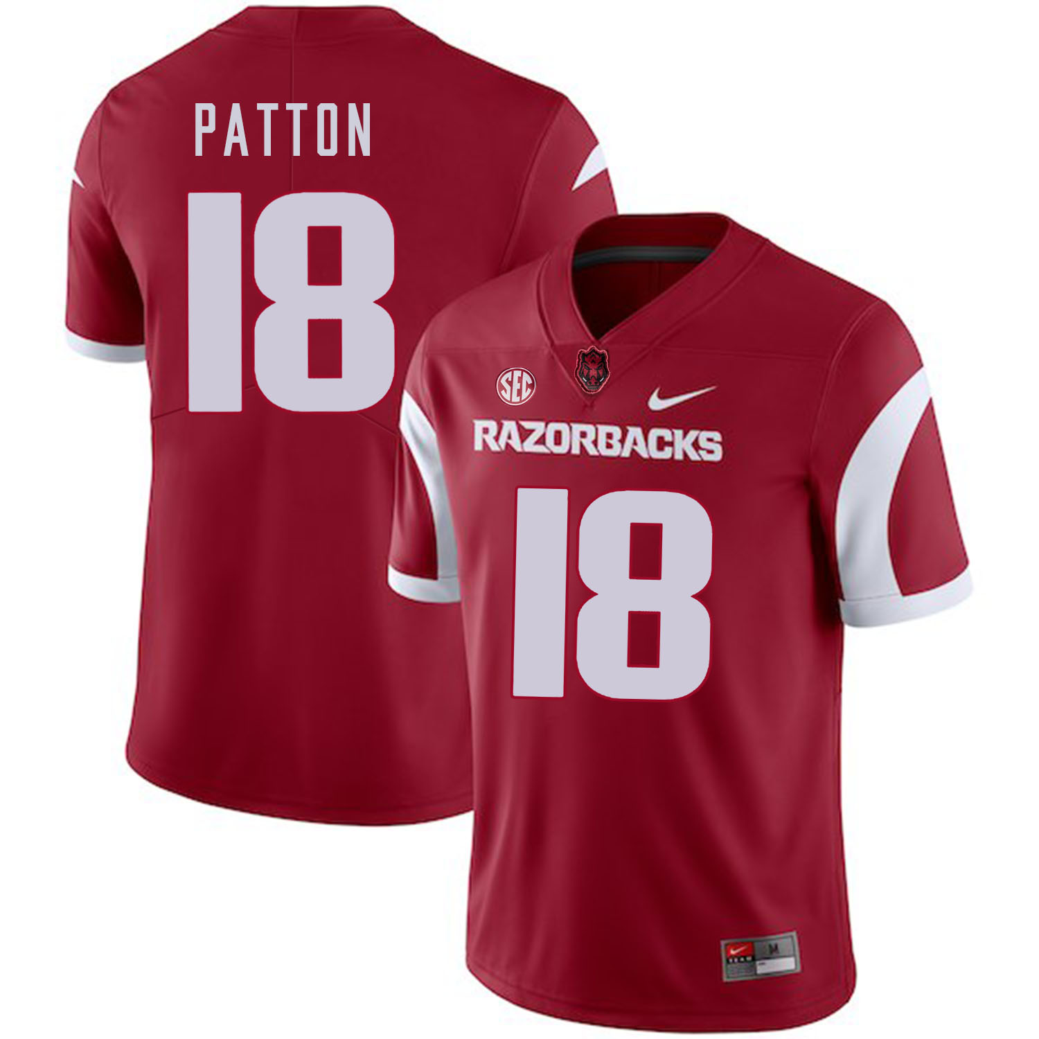 Arkansas Razorbacks 18 Jeremy Patton Red College Football Jersey