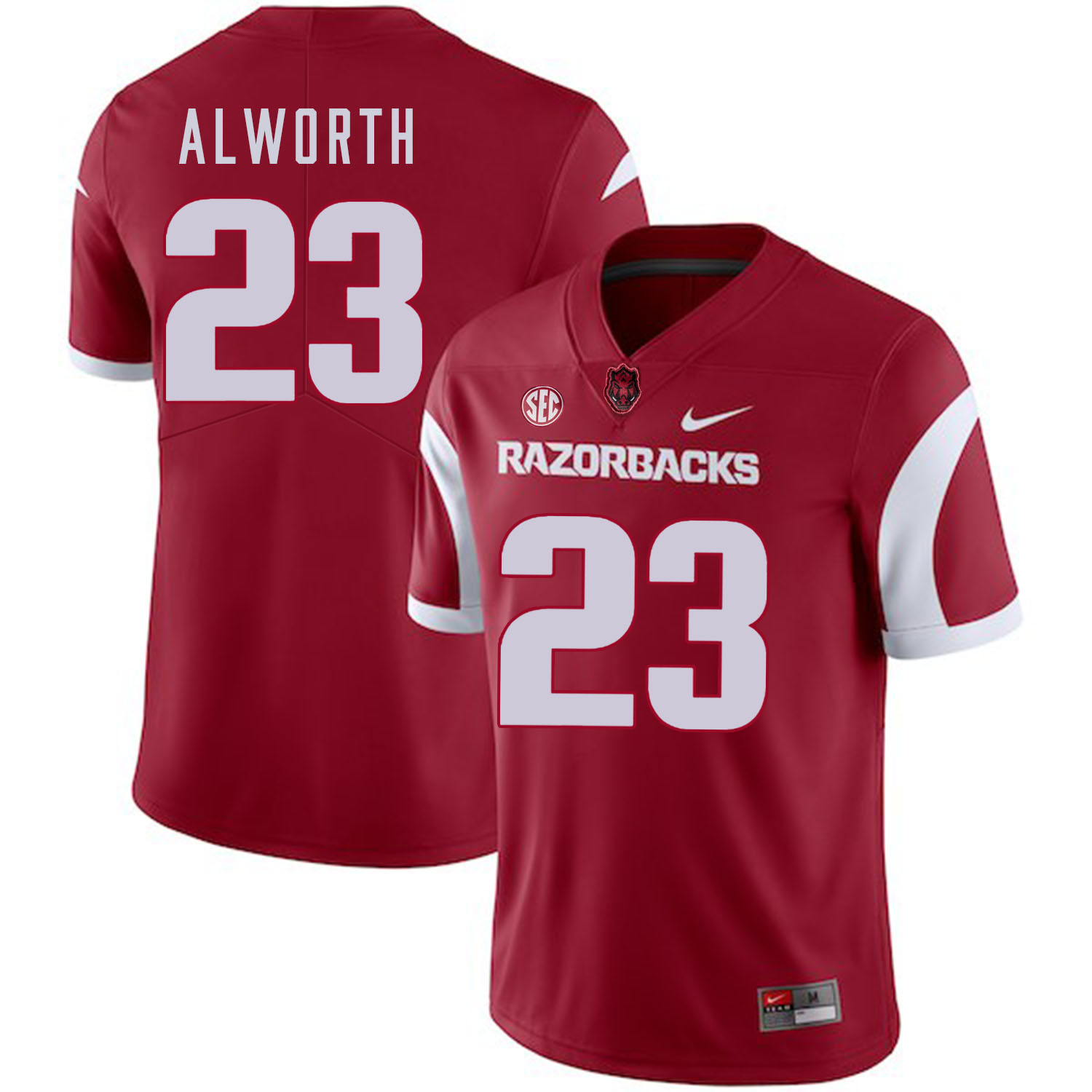 Arkansas Razorbacks 23 Lance Alworth Red College Football Jersey