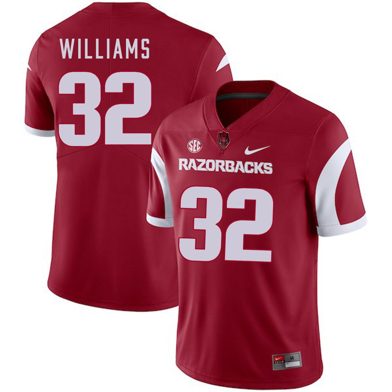 Arkansas Razorbacks 32 Jonathan Williams Red College Football Jersey