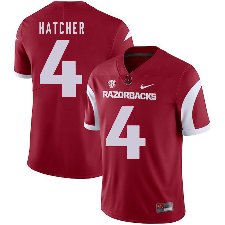 Arkansas Razorbacks 4 Keon Hatcher Red College Football Jersey