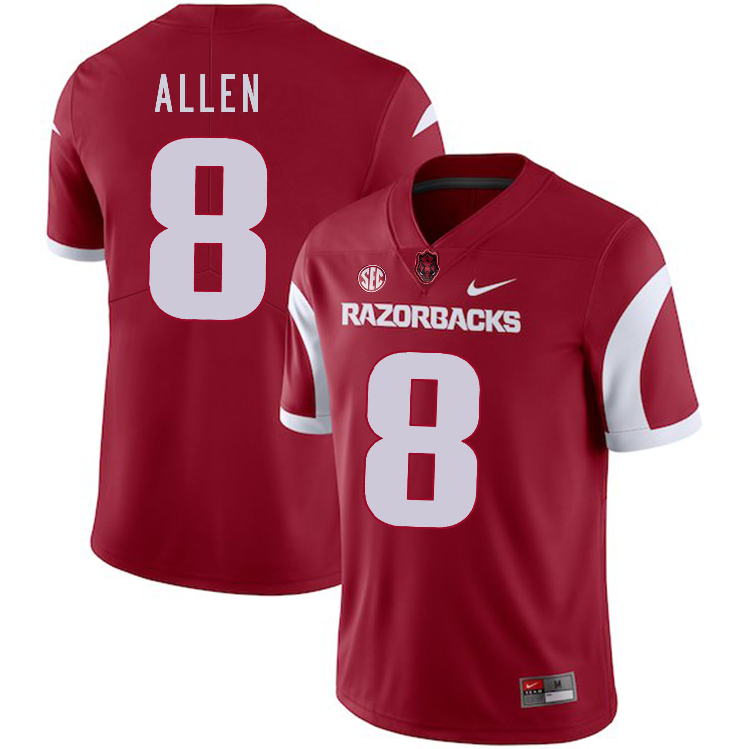 Arkansas Razorbacks 8 Austin Allen Red College Football Jersey