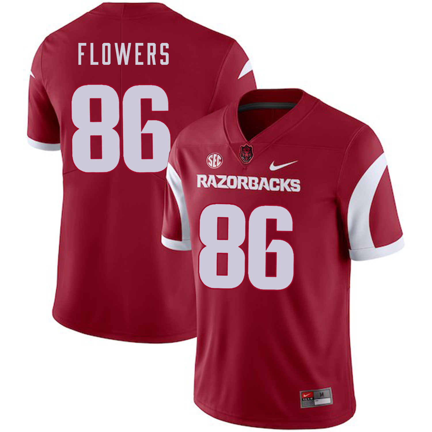 Arkansas Razorbacks 86 Trey Flowers Red College Football Jersey