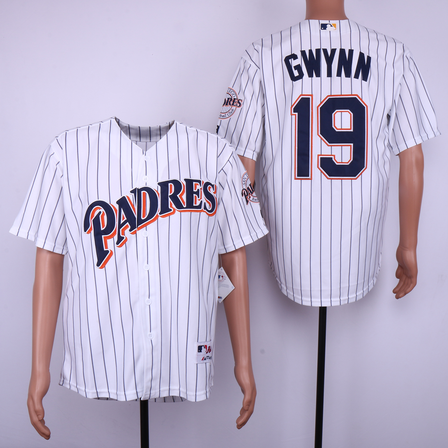 Padres 19 Tony Gwynn White 1991 Turn Back The Clock Jersey