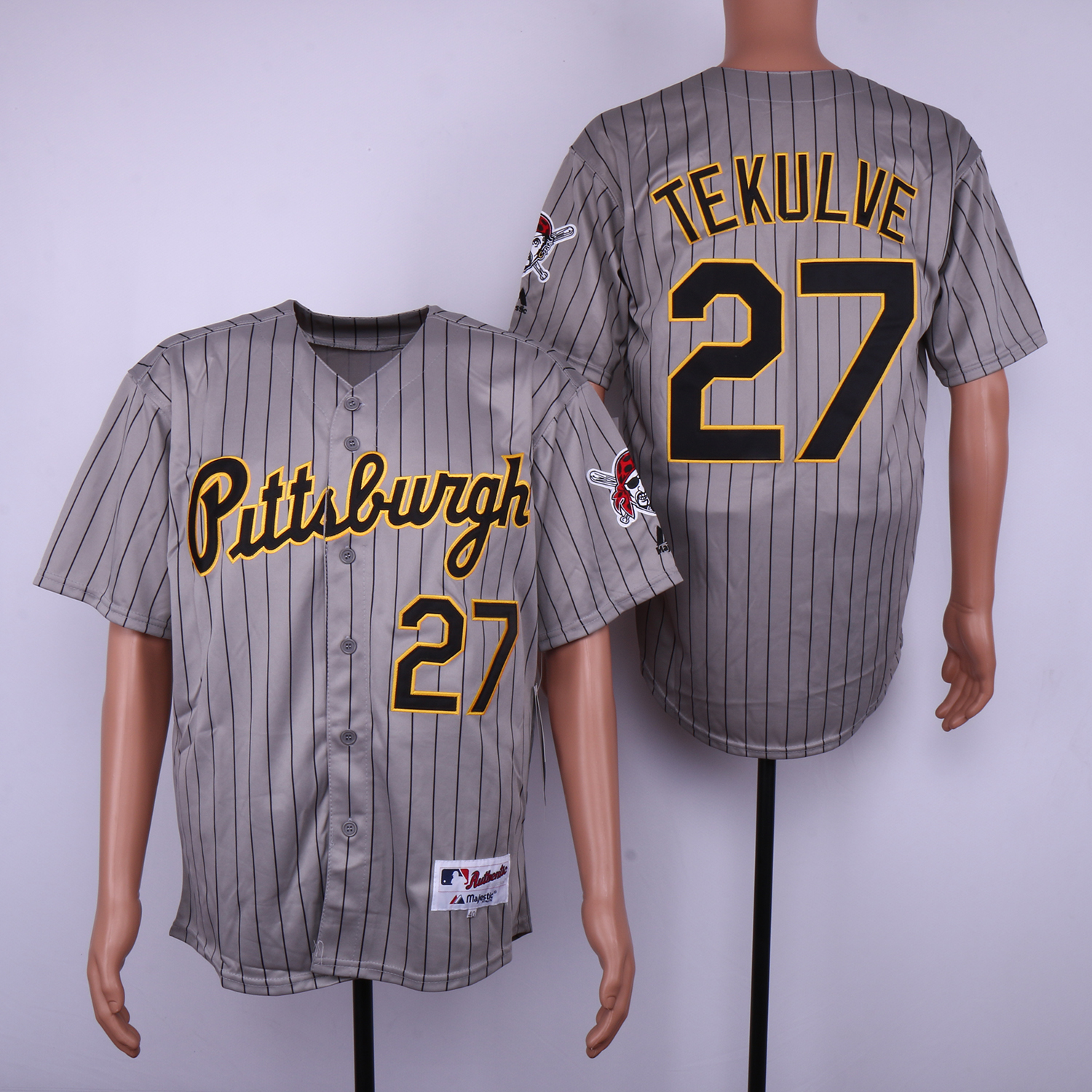 Pirates 27 Kent Tekulve Gray 1997 Turn Back The Clock Jersey