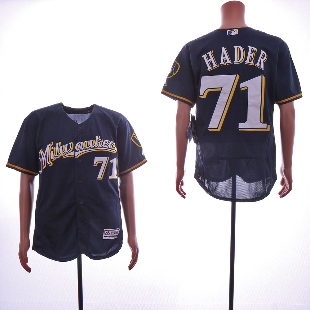 Brewers 71 Josh Hader Navy Flexbase Jersey
