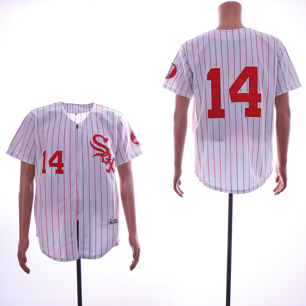 White Sox 14 Bill Melton White 1972 Throwback Jersey