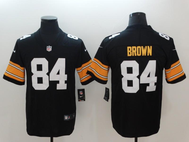 Nike Steelers 84 Antonio Brown Black Alternate Vapor Untouchable Limited Jersey