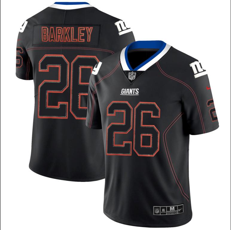 Nike Giants 26 Saquon Barkley Black Shadow Legend Limited Jersey