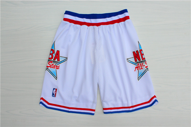 1992 All-Star White Hardwood Classics Shorts
