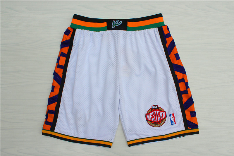 1995 All-Star White Hardwood Classics Shorts