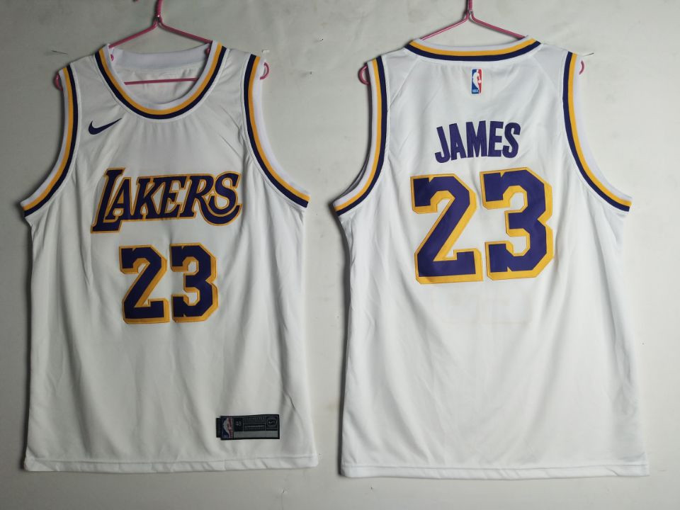 Lakers 23 Lebron James White 2018-19 Nike Swingman Jersey
