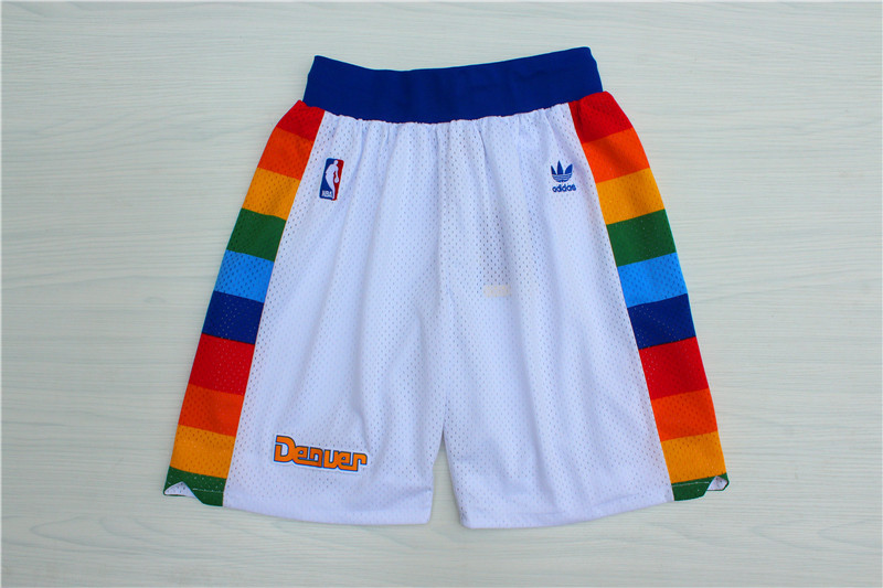 Nuggets White Hardwood Classics Shorts