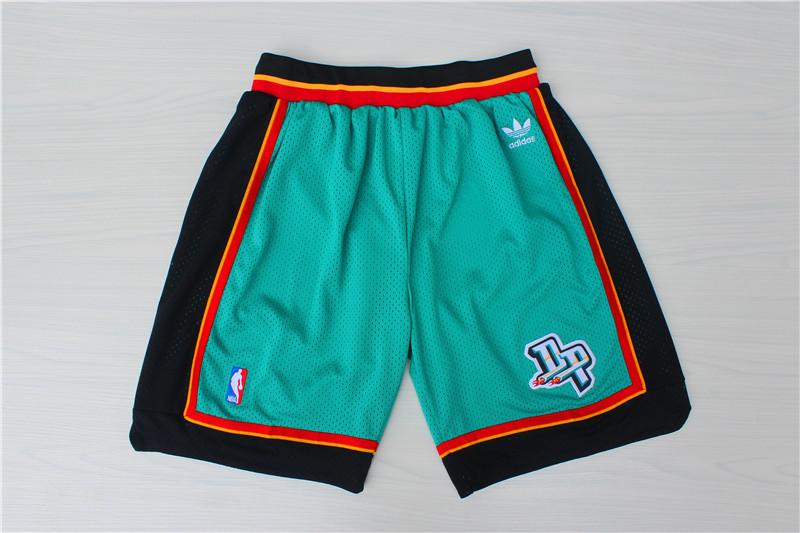 Pistons Green Hardwood Classics Shorts