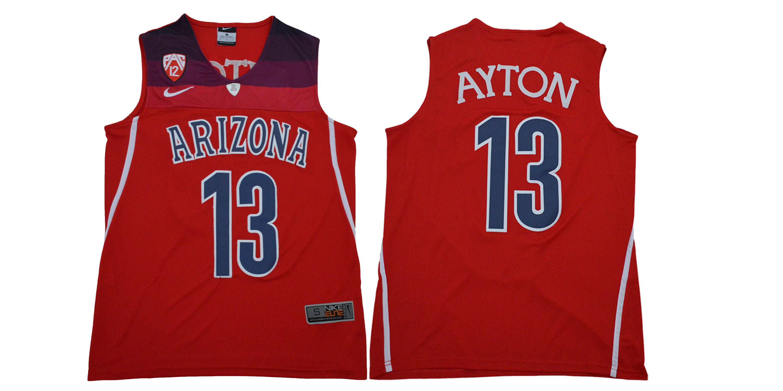 Arizona Wildcats 13 Deandre Ayton Red College Basketball Jersey