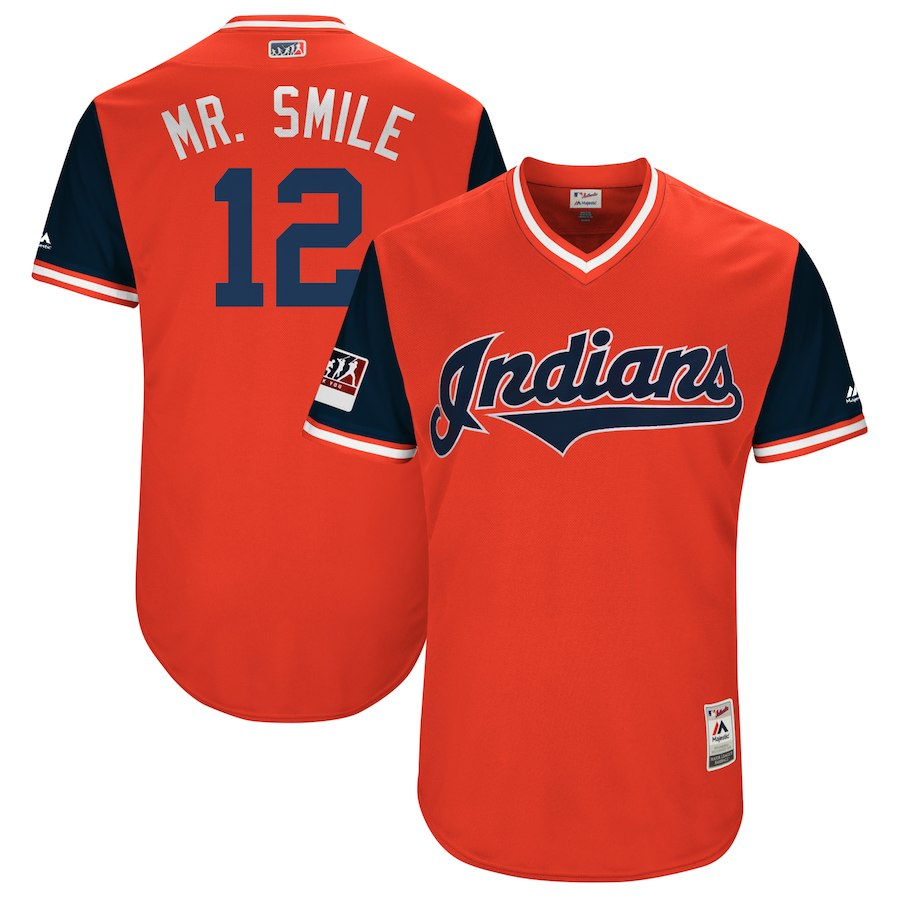 New Indians 12 Francisco Lindor Mr. Smile Red 2018 Players ...