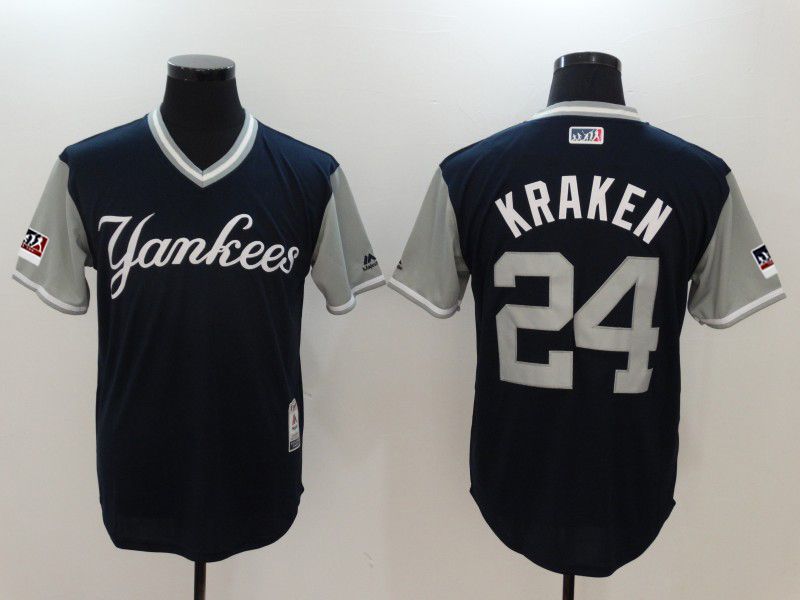 Yankees 24 Gary Sanchez Kraken Navy 2018 Players' Weekend Authentic Team Jersey