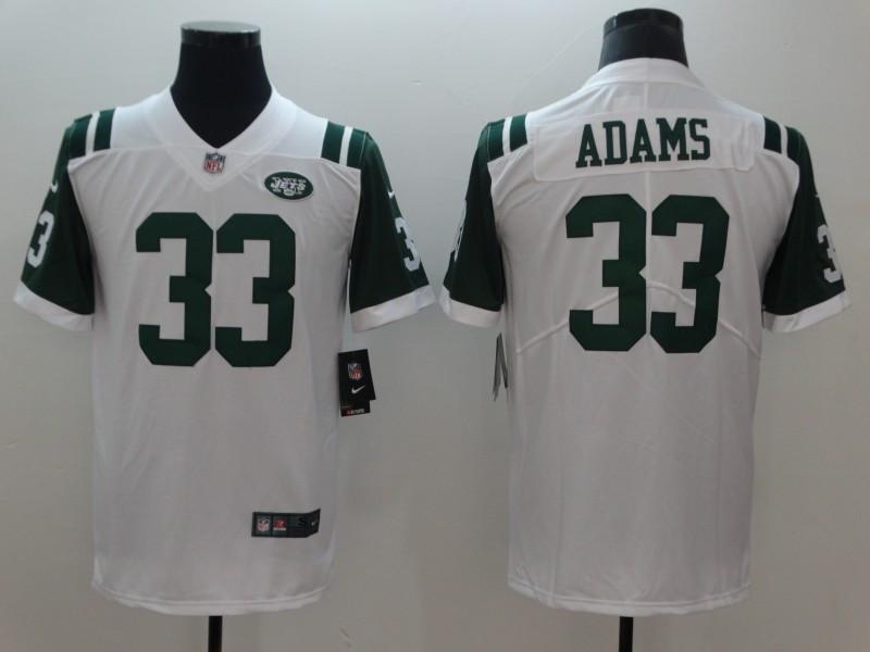 Nike Jets 33 Jamal Adams White Vapor Untouchable Limited Jersey