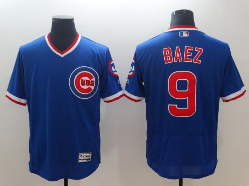Cubs 9 Javier Baez Royal Throwback Flexbase Jersey