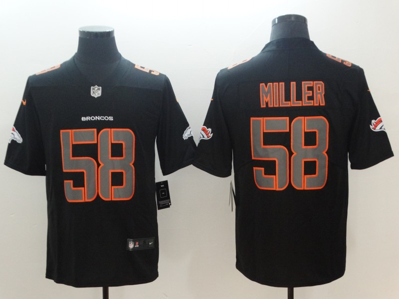 Nike Broncos 58 Von Miller Black Vapor Impact Limited Jersey
