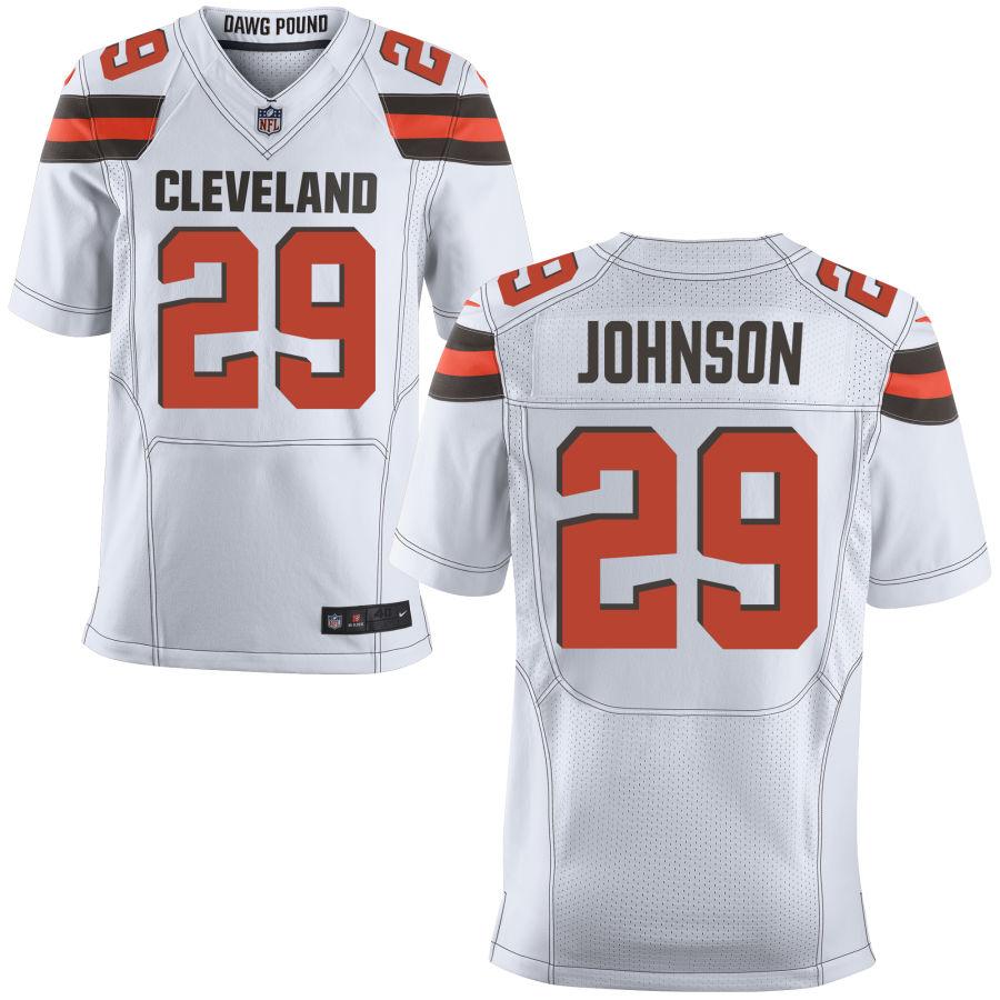 Nike Browns 29 Duke Johnson White Elite Jersey