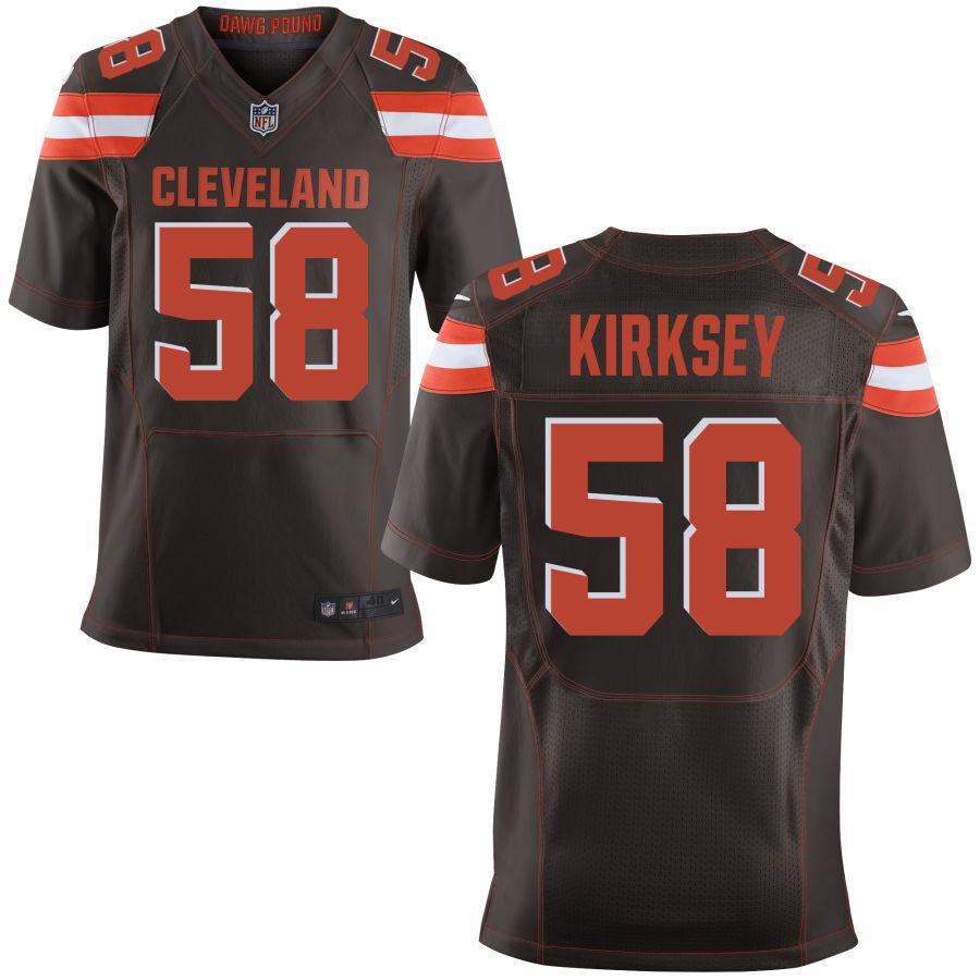 Nike Browns 58 Christian Kirksey Brown Elite Jersey