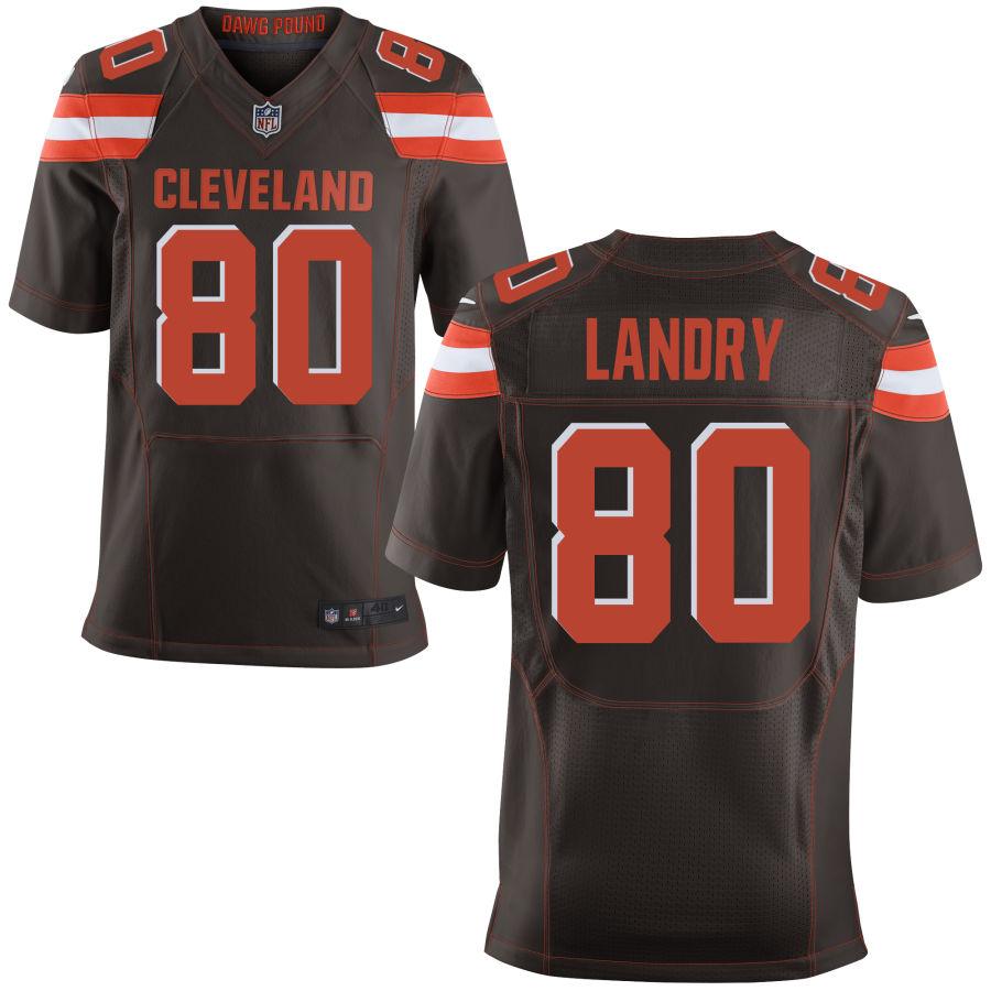 Nike Browns 80 Jarvis Landry Brown Elite Jersey