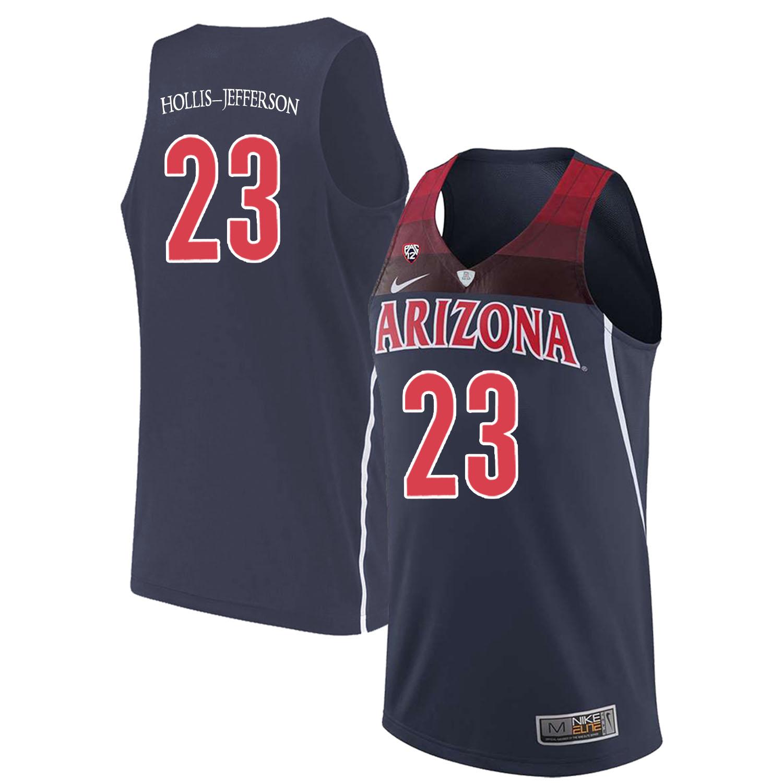 Arizona Wildcats 23 Rondae Hollis-Jefferson Navy College Basketball Jersey