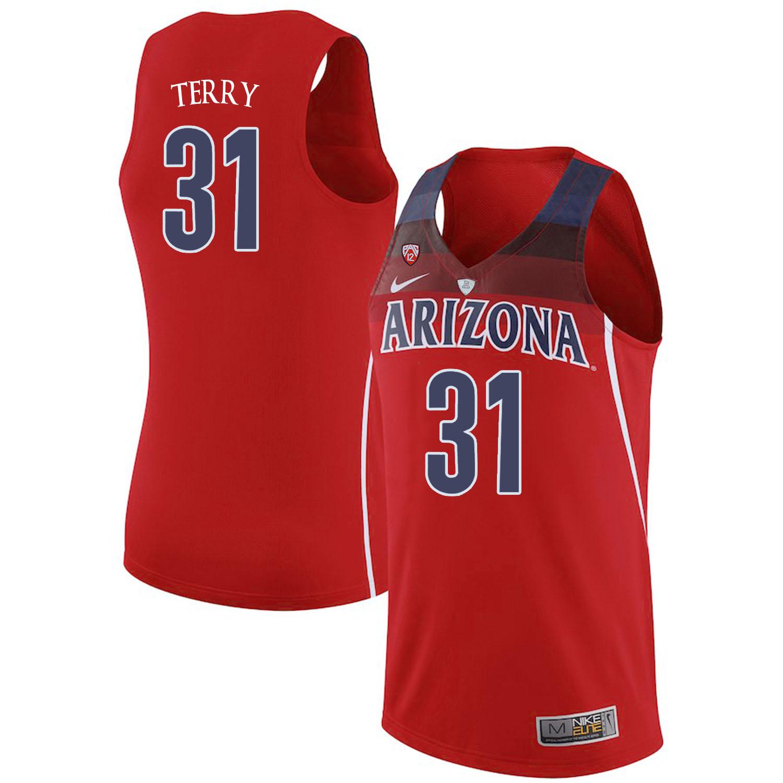 Arizona Wildcats 31 Jason Terry Red College Basketball Jersey