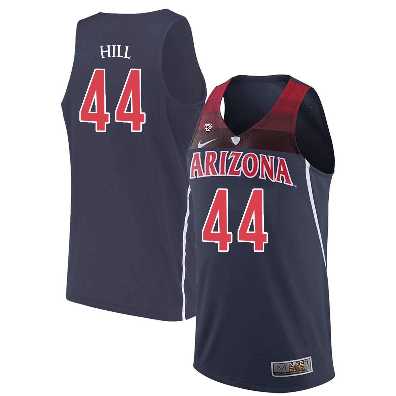 Arizona Wildcats 44 Solomon Hill Navy College Basketball Jersey