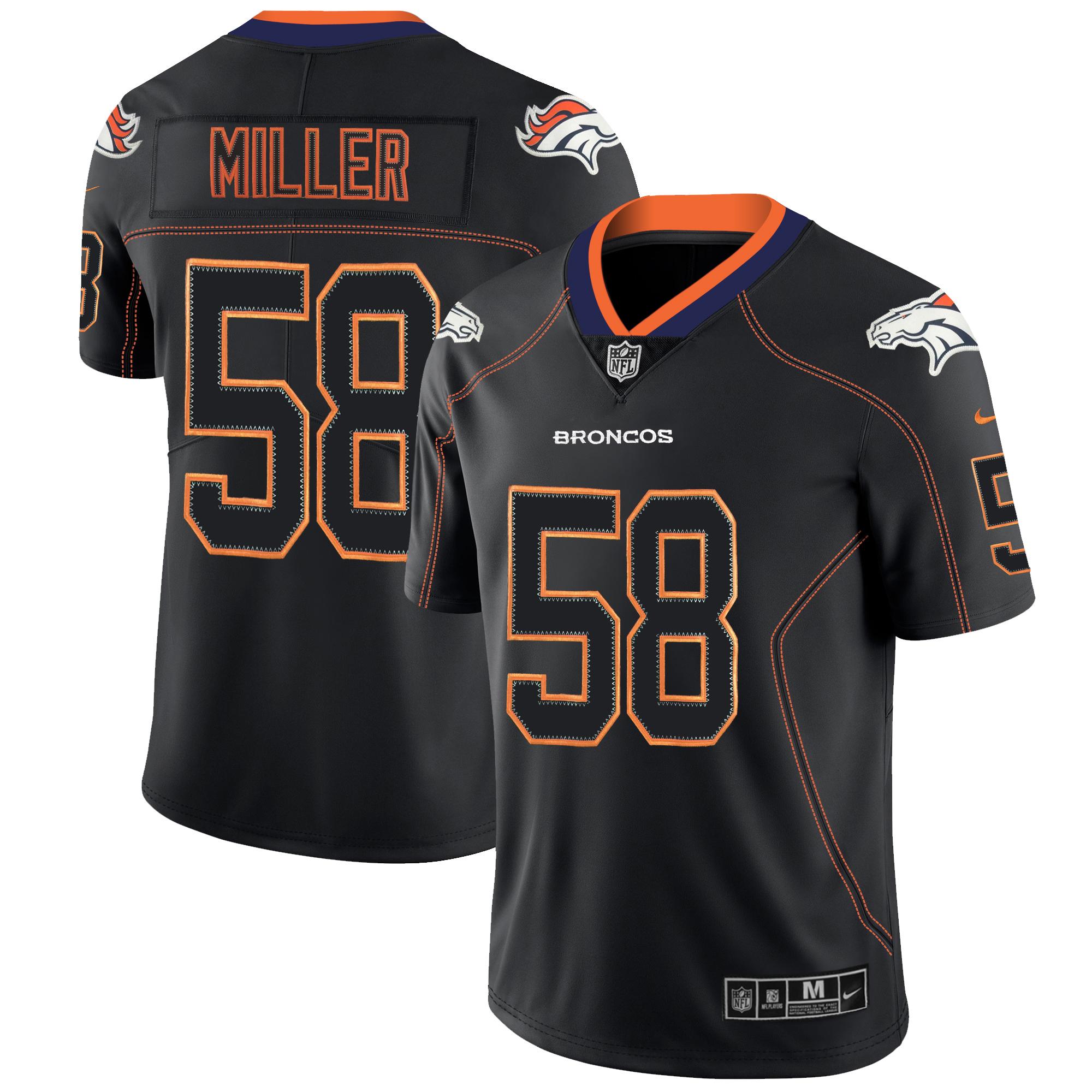 Nike Broncos 58 Von Miller Black Shadow Legend Limited Jersey