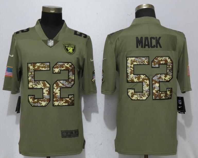 Nike Raiders 52 Khalil Mack Olive Camo Salute To Service Limited Jersey