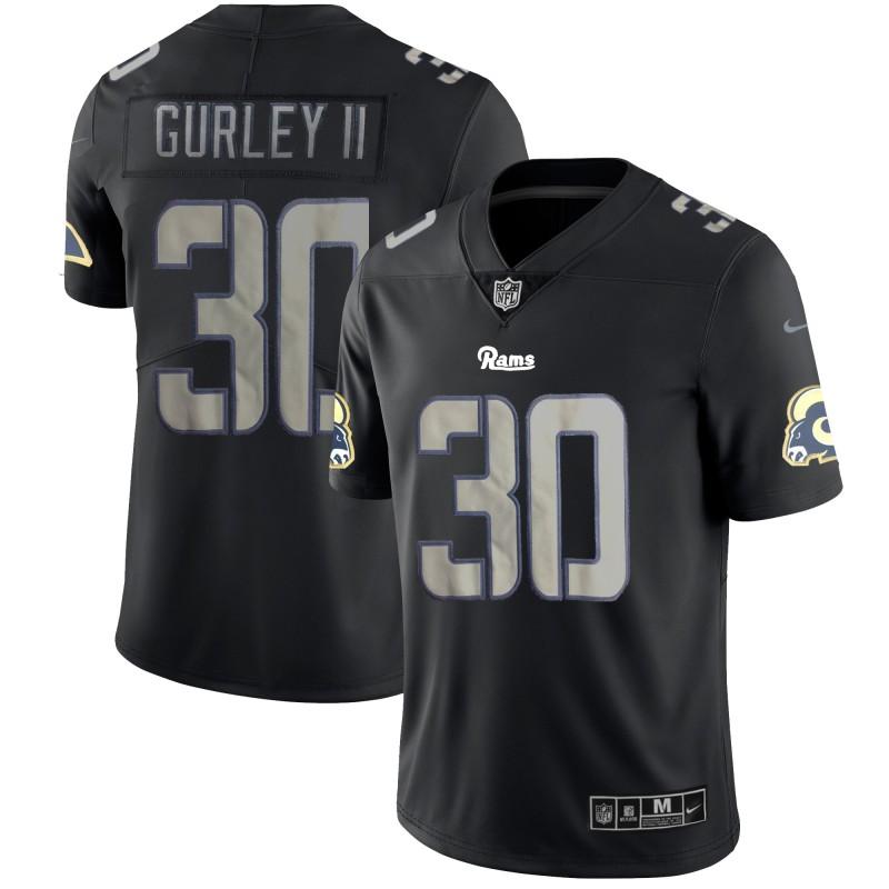 Nike Rams 30 Todd Guerley II Black Vapor Impact Limited Jersey