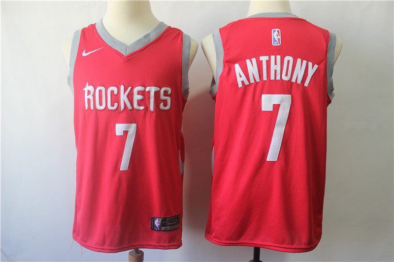 Rockets 7 Carmelo Anthony Red Nike Swingman Jersey